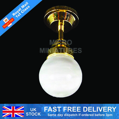 Dolls House Small Globe Ceiling Light 1/12th Scale (01479)