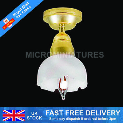 Dolls House Single Fluted Ceiling Light 1/12 Scale (01473)