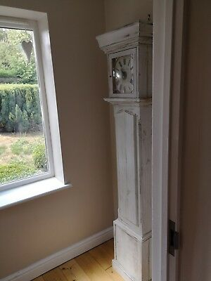 Large vintage shabby grandfather clock