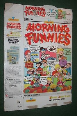 1988 MORNING FUNNIES 1st Collector Edition Cereal Box Ralston Dennis the Menace