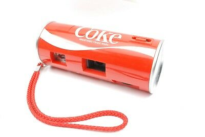 """Coke Coca Cola 110 """"Can"""" Camera, early metal  end type, working. nice condition"""