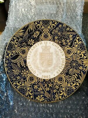 Royal Worcester Golden Jubilee Sovereign Plate 2002 - Mint condition