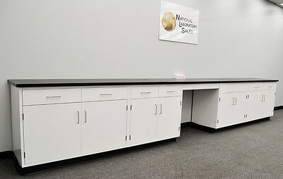 Fisher American 17′ Base Laboratory Cabinets / Case Work / Benches / Tops