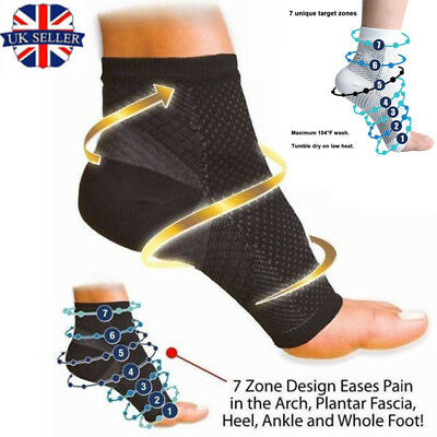 Copper Ankle Plantar Fasciitis Compression Socks Foot Arch Pain Relief Support