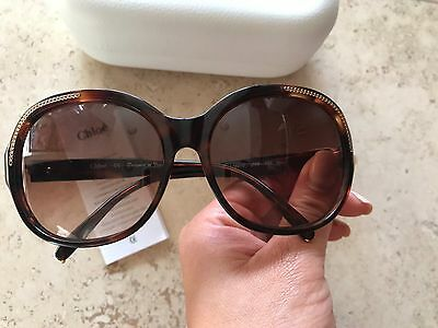 72df7f78468e EEUC Chloe Authentic Sunglasses tortoise gold CL2210 02 135 Made in France   330