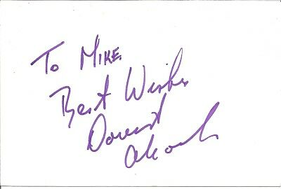 David Alcock actor signed white card dedicated in person autograph Z2491