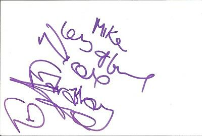 Nicola Faraday actress signed white card dedicated in person autograph Z2498