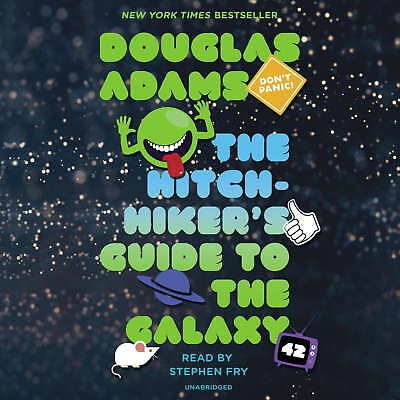 THE HITCHHIKER'S GUIDE TO THE GALAXY AUDIO BOOKS MP3DVDR - ALL 5 (New Vers) (B)