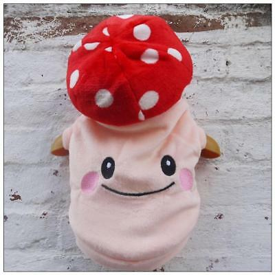 Dog Puppy Mushroom  Super Mario Toad Costume Clothes