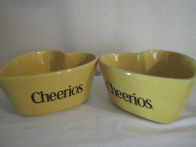 Cheerios Yellow Heart Bowls - Set of 2 - General Mills 2003