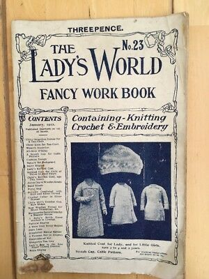 THE LADY'S WORLD FANCY WORK BOOK Knitting Crochet Embroidery No.23 January 1912