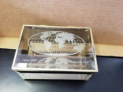 Vintage Mcdonalds Collector Bronze Glass Mirrored Box