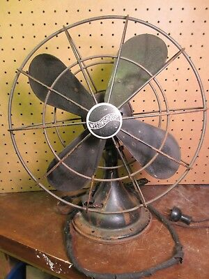 Vintage Westinghouse Oscillating Fan Style 868472 .45A 100/120V Untested. As is.