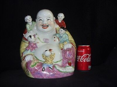 Large chinese laughing buddha with children