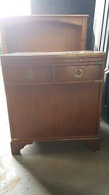 Antique writing desk bureau / Drinks cabinet