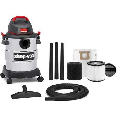 Shop-Vac, 6 Gallon 4.5 Peak HP Stainless Steel wet/dry vac-New Silver/Black/Red