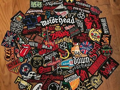 Random Lot of 30 Band Patches Iron on Music Punk Rock Heavy Metal (USA Seller)