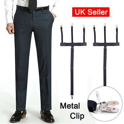 Mens T Shirt Stay Garter Sock Elastic Strap Non-Slip Suspender Locking Clamp SUN