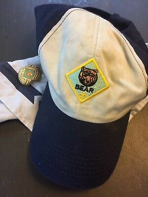 BSA Bear Hat, Neckerchief And Slide