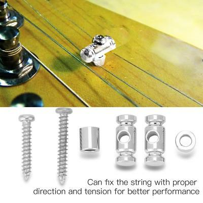 2x Guitar Roller String Tree String Retainer Guide Electric Guitar Parts