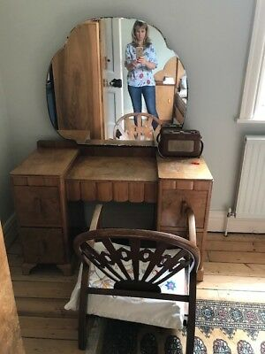 art deco dressing table (matching wardrobe see other listing)