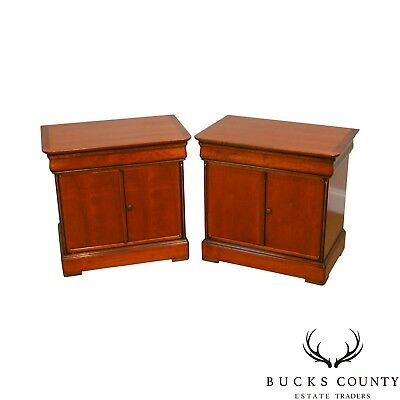 Grange French Cherry Louis Phillipe Style Pair of Nightstands