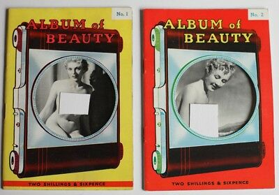 TWO Rare Near Mint 1950's British Men's Pin-Up Glamour Magazines Issues 1 & 2