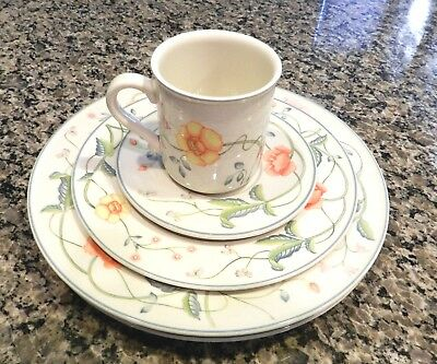 5 pc Villeroy & Boch Germany Albertina 2 Dinner, 1 salad Plate, Cup & Saucer