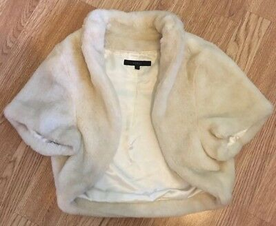 Coast Faux Fur Bolero Shrug Ivory
