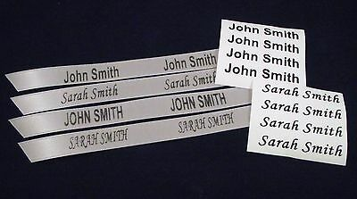 Name Labels. Iron On or Sew In Name Tapes Labels Tags