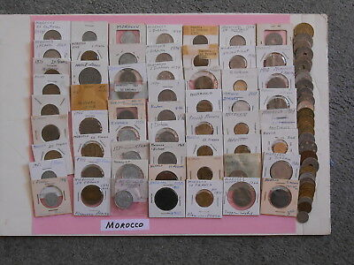 World Coin Lot:  113 Foreign Coins from Morocco