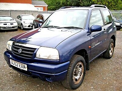 2002/52 SUZUKI GRAND VITARA 1.6 SPORT 3 DOOR in MET BLUE **ONLY £10**