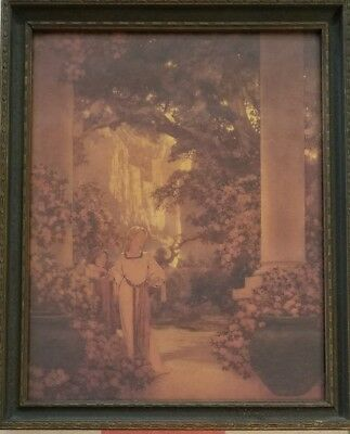 "ORIGINAL 1912 ""Land of Make Believe"" Maxfield Parrish Litho Dodge Print Picture~"