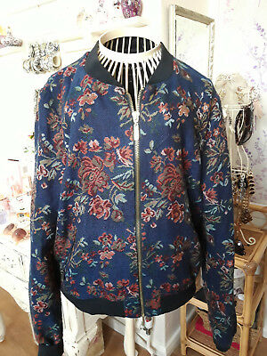 Fab River Island Tapestry Floral Jacket Size 14