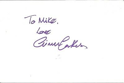 Aimee Parkes actress signed white card dedicated in person autograph Z2520