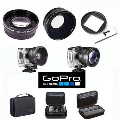 Gopro Hero5 Black Wide Angle Lens+Telephoto Zoom Lens + Gopro Case Abssc-001