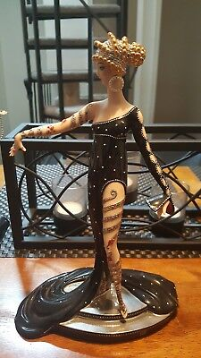 """Franklin Mint House of Erte """"Pearls & Rubbies"""" Limited Edition Figure M1199"""
