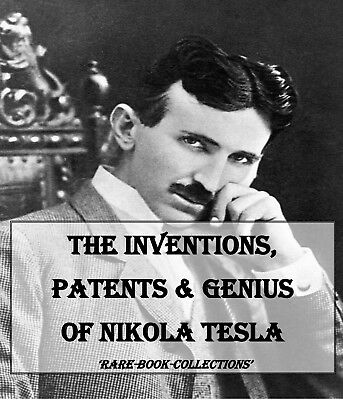 Rare Nikola Tesla Books On Dvd - Inventions Patents Science Xray Coil Electrics