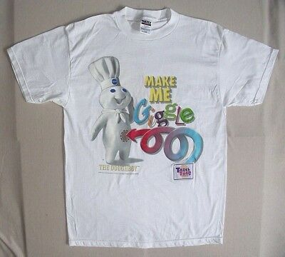 Pillsbury Doughboy Giggle T-Shirt - Large  1998 Touch Tone Telephone Contest New