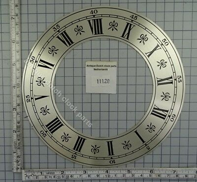 Large Brass Etched Chapter Ring For Grandfather Clock 18,2 Cm Or 7 /8""