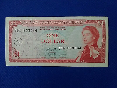 East Carribean Currency Authority $1 Dollar Bank Note, nice higher grade note