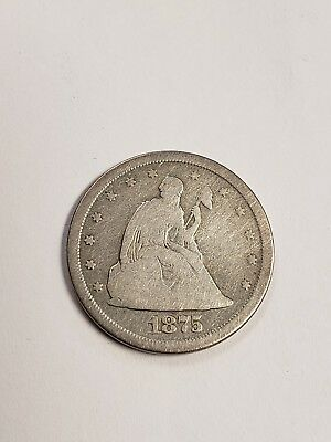 1875 S Seated Liberty Quarter dollar