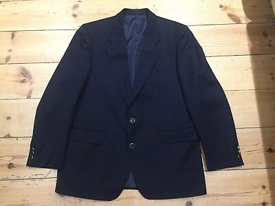 M & S Military Style Officers Blazer Yacht Club Mess Dinner Dance Blue 42""