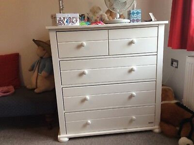 White John Lewis Chest of Drawers with optional Baby Changing Top