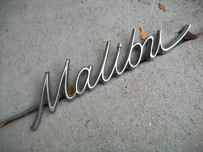 Antique Vintage RARE 1966 1967 Malibu OEM Nice Name Plate GM # 7583539