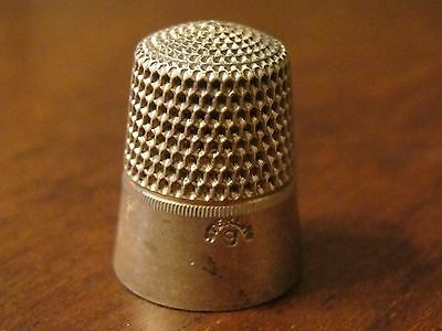 Antique Simons Bros Sterling Thimble - Size 9         No.3