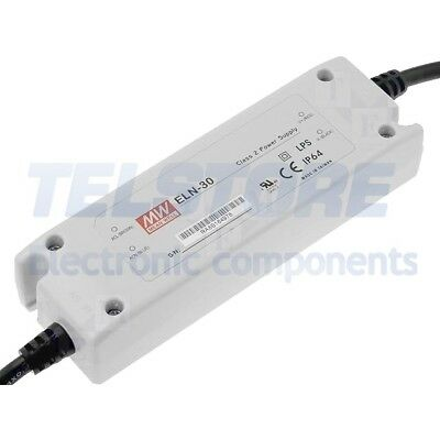 1pcs ELN-30-12D Alimentatore switching per diodi LED 30W 12VDC 2,5A IP64 MEAN WE
