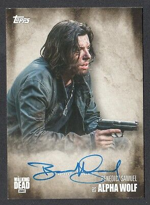 THE WALKING DEAD SEASON 5 Topps 2016 AUTOGRAPH CARD by BENEDICT SAMUEL Wolf