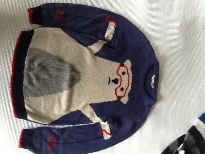 blue Christmas jumper from John Lewis, age 8