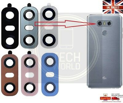 New Real Glass Camera Lens Cover Part for LG G6 H870 H971 + Adhesive Sticker UK